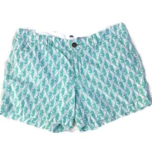 Old Navy | White with Seafoam Green seahorse Short